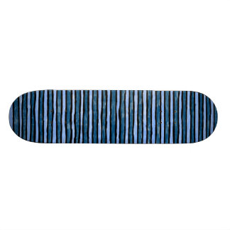 Skateboard, Painted Stripes, Lt. Blue and Blue 19.7 Cm Skateboard Deck