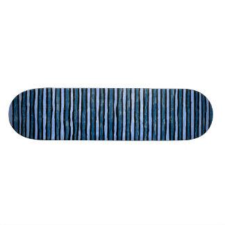 Skateboard, Painted Stripes, Lt. Blue and Blue Skateboard