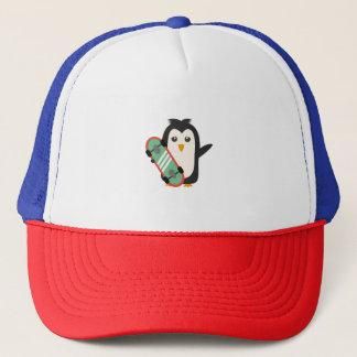 Skateboard Penguin Trucker Hat