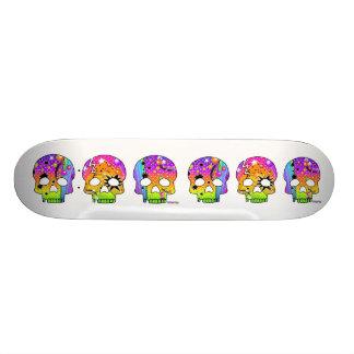 Skateboard - POP ART SKULLS