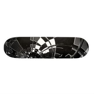 Skateboard Racer Black And White Skateboard