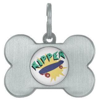 Skateboard Ripper Pet Name Tag
