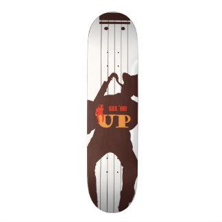 skateboard - sax em up silhouet saxofonist