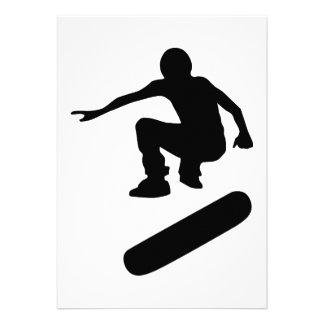 skateboard silhouette personalized invite