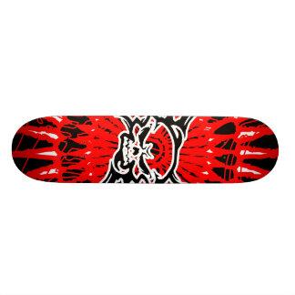 skateboard skull/black red white