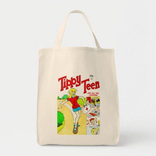 Skateboard Teen Girl Cartoon Bag