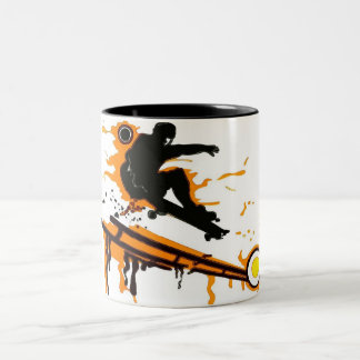 skateboard Two-Tone mug