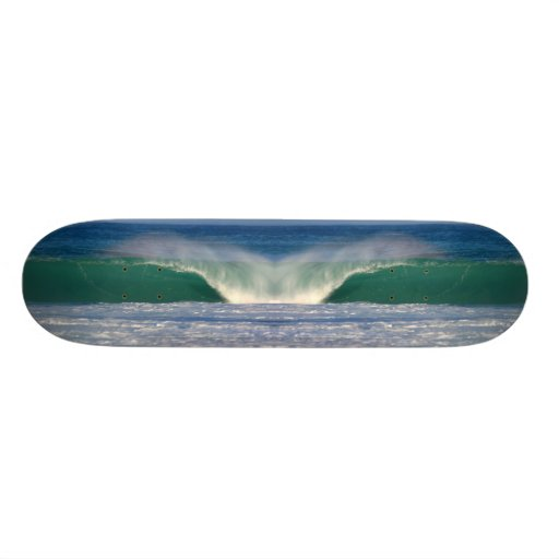 Skateboard with a perfect wave photo.