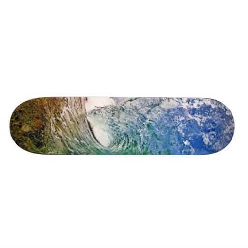 Skateboard with a perfect wave photo by Paul Topp