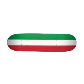 Skateboard with flag of Italy