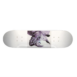 Skateboard with Rhino design