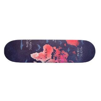 skateboard world map