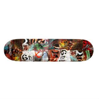 Skateboard Zizzago Street Art Abstract A3 Grunge