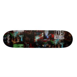 Skateboard Zizzago Street Art Abstract A Grunge