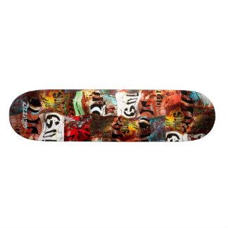 Skateboard Zizzago Street Art Abstract Grunge