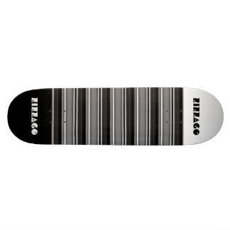 Skateboard Zizzago White Black Stripe