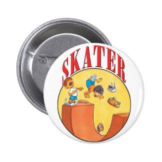 Skateboarder 4 pinback button