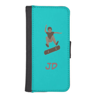 Skateboarder Add Initials iphone wallet iPhone 5 Wallet Case