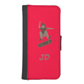 Skateboarder Add Initials iphone wallet
