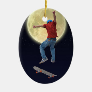 Skateboarder Get Some Air Action Street Kulcha Art Ceramic Ornament
