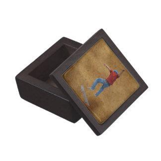 Skateboarder Get Some Air Action Street Kulcha Art Premium Keepsake Box