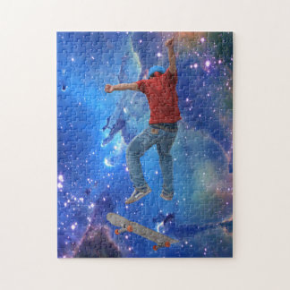 Skateboarder Get Some Air Action Street Kulcha Art Puzzles