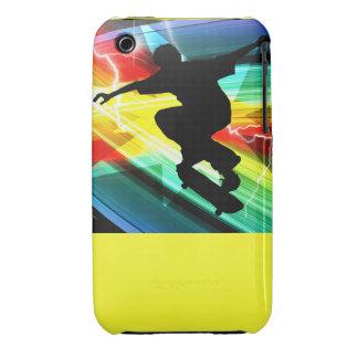 Skateboarder in Criss Cross Lightning iPhone 3 Cover