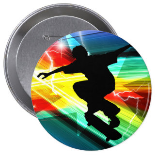 Skateboarder in Criss Cross Lightning Pin