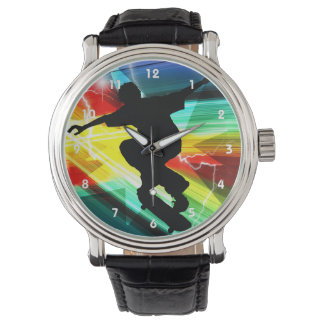 Skateboarder in Criss Cross Lightning Watches