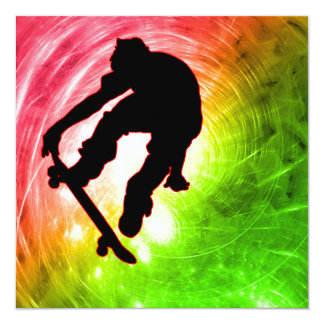 Skateboarder in Psychedelic Cyclone Card