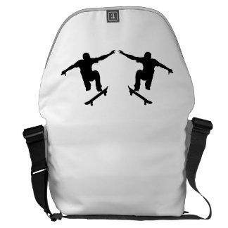 Skateboarder Mirror Image Messenger Bags