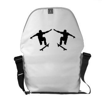 Skateboarder Mirror Image Courier Bags
