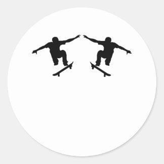 Skateboarder Mirror Image Sticker