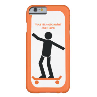 Skateboarder on his skateboard custom barely there iPhone 6 case