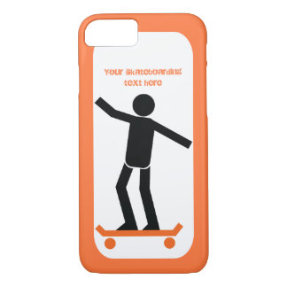 Skateboarder on his skateboard custom iPhone 7 case