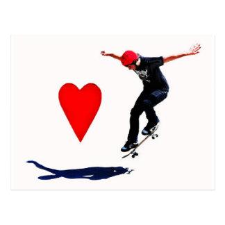 skateboarder postcard