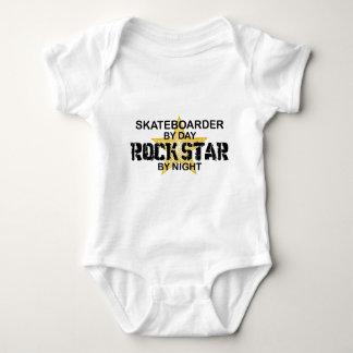 Skateboarder Rock Star by Night Baby Bodysuit