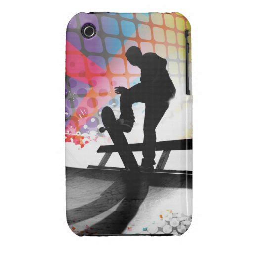 Skateboarder Silhouette iPhone 3 Cases
