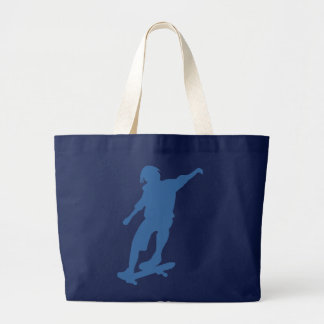 Skateboarder Silhouette Tote Bags