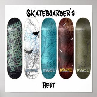 Skateboarder's Best Poster