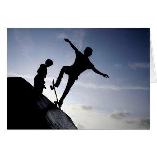 Skateboarders Card