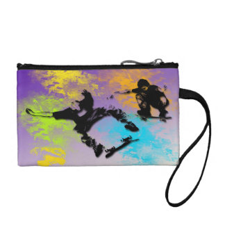 Skateboarders Key Coin Clutch Coin Wallets