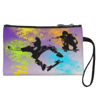 Skateboarders Mini Clutch Wristlet Purses