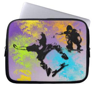 Skateboarders Neoprene Laptop Sleeve