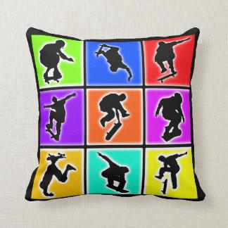 Skateboarders Pop Art Cushion
