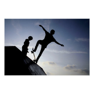 Skateboarders Poster