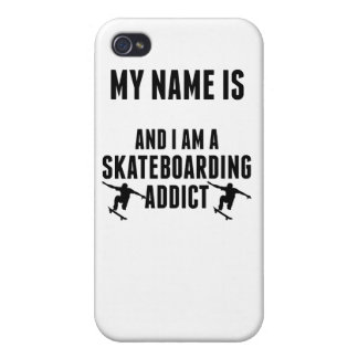Skateboarding Addict iPhone 4 Cases