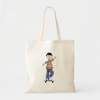 Skateboarding Boy Canvas Bag