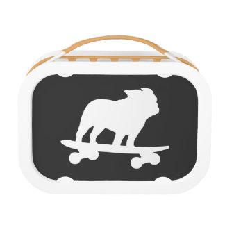 Skateboarding Bulldog Silhouette Lunchboxes