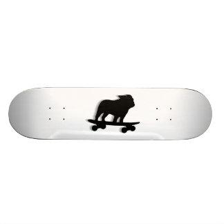 Skateboarding Bulldog Silhouette Skate Decks